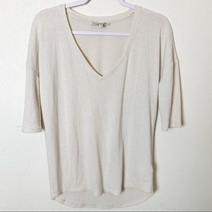 Express One Eleven High-Low V-Neck Sweater